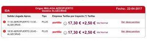 Aeropuerto Malaga a Algeciras