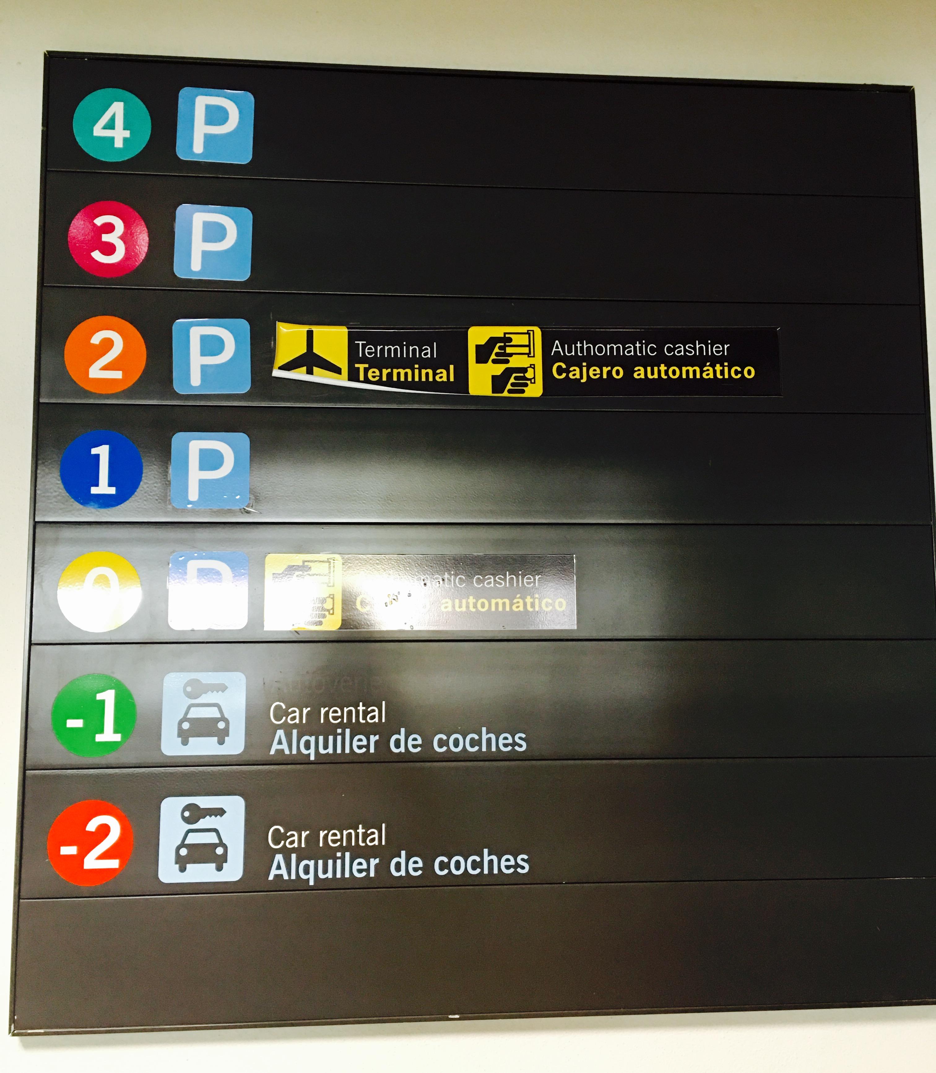 Car hire parking parking malaga airport
