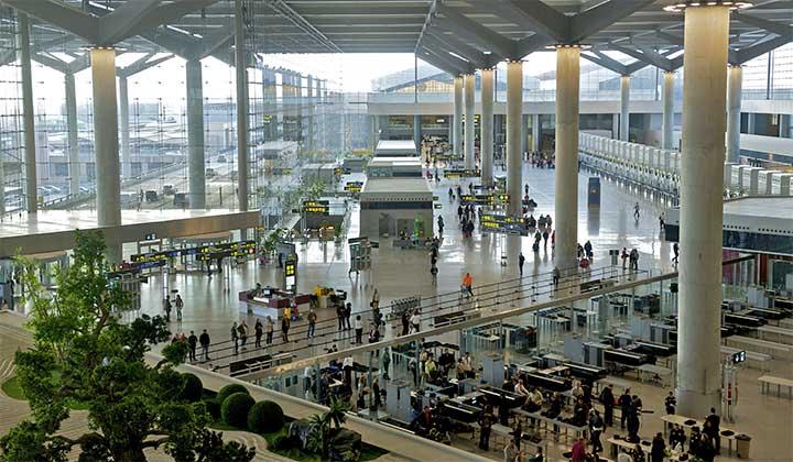 Aeropuerto de Málaga, vistas T3