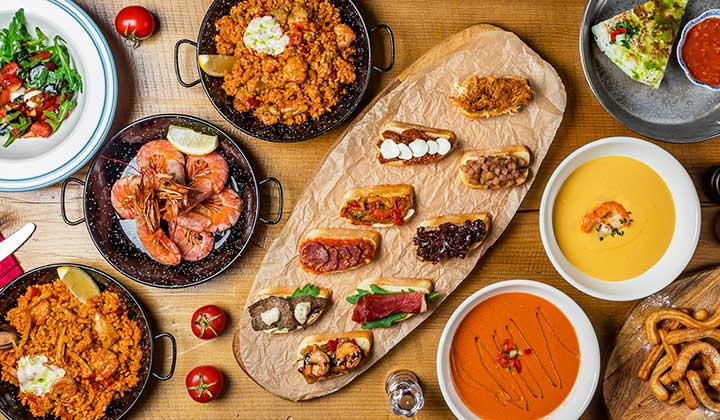 Typical tapas selection